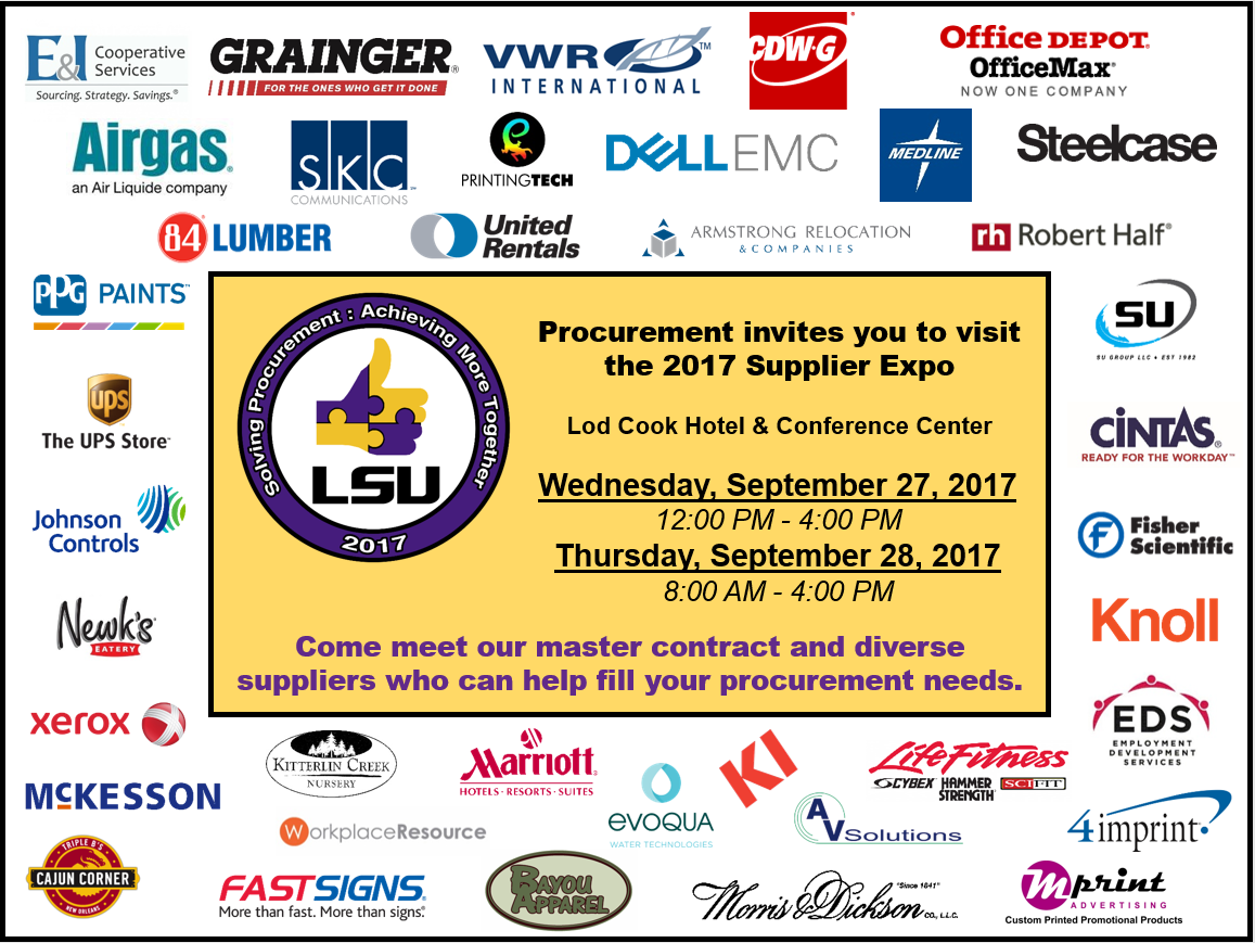 2017 Supplier Expo Flyer